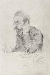 Ilya REPIN (?). Portrait of the Writer Ivan Leontiev (Shcheglov). 1890 (?)