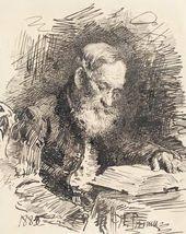 Ilya REPIN. Portrait of Yefim Repin (the Artist's Father) with a Book. 1884