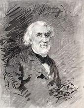 Ilya REPIN. Portrait of Ivan Turgenev. 1884 (?)