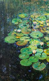 Yury REPIN. Water-lilies in the Рond at Penaty. 1931
