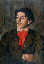 Yury REPIN. Portrait of Isaak Brodsky. 1909