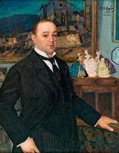 Michael WERBOFF. Portrait of Leonid Sobinov. 1922