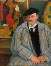 Michael WERBOFF. Portrait of Ilya Ostroukhov. 1924