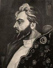 "Michael WERBOFF. Feodor Chaliapin as Boris Godunov in Mussorgsky's ""Boris Godunov"". 1925"
