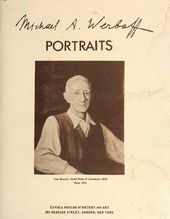 "Catalogue of Portraits by Michael Werboff, with his ""Portrait of Ivan Bunin"" (1951) on the cover"