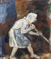 Peasant Woman with a Pitchfork. 2010