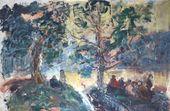 Anatoly SLEPYSHEV. A Gathering on a Hillside. Bois de Boulogne. 1998