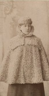 Alexandra Kousnetzoff. Photograph. c. 1895. Moscow