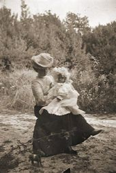 Alexandra with her daughter, Elena. Photograph. c. 1903