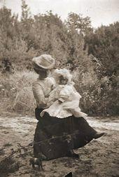 Alexandra with her daughter, Elena. Photograph. c. 1903
