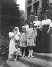 The Kousnetzoff family in Val-André. 1913