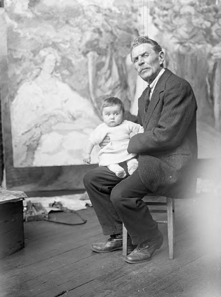 Constantin Kousnetzoff with his granddaughter, Monique. Photograph. c. 1925