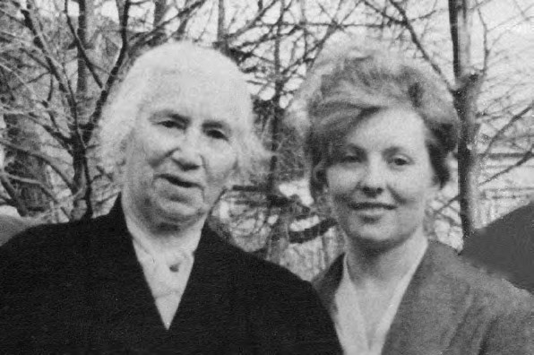 Yevgenia Lang and Svetlana Volodina. Photograph. 1960s
