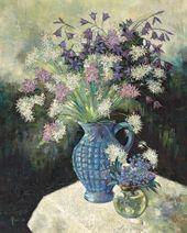 Yevgenia Lang. Night Violets. 1960s