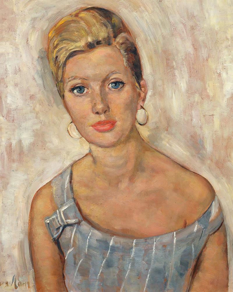 Yevgenia Lang. Portrait of Svetlana Volodina. 1960s
