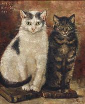 Yevgenia Lang. Cats. 1940s