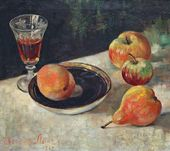 Yevgenia Lang. Still-life with a Peach. 1960s