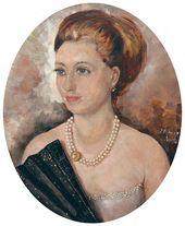 Yevgenia Lang. Stylized Portrait of Svetlana Volodina. 1960s