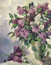Yevgenia Lang. Lilacs. 1960s