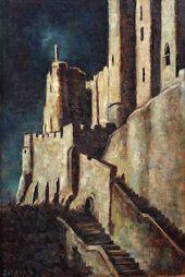 Yevgenia Lang. Night at Saint-Michel. 1960s