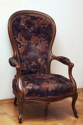 An old armchair, a gift to the author from Yevgenia Lang