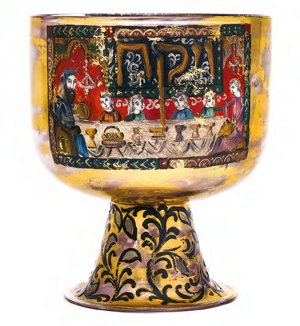 Pesach Bowl with a Painted Scene