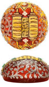 Paperweight with Images of Torah Scroll and Magen David