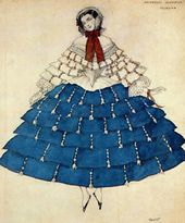 "Léon BAKST. Costume design for Chiarina, for the ballet ""Carnaval"". 1910"