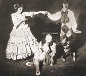"Tamara Karsavina, Vaslav Nijinsky and Adolph Bolm in the ballet ""Carnaval"". 1910"
