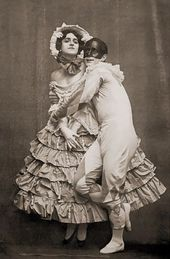 "Mikhail Fokine and Vera Fokina in the ballet ""Carnaval"". 1909"