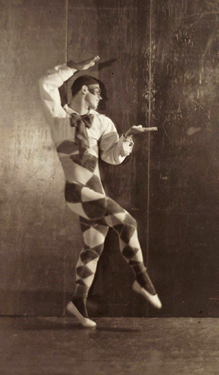 "Vaslav Nijinsky as Harlequin from the ballet ""Carnaval"". 1910"