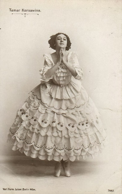"Tamara Karsavina as Columbine from the ballet ""Carnaval"". 1910"
