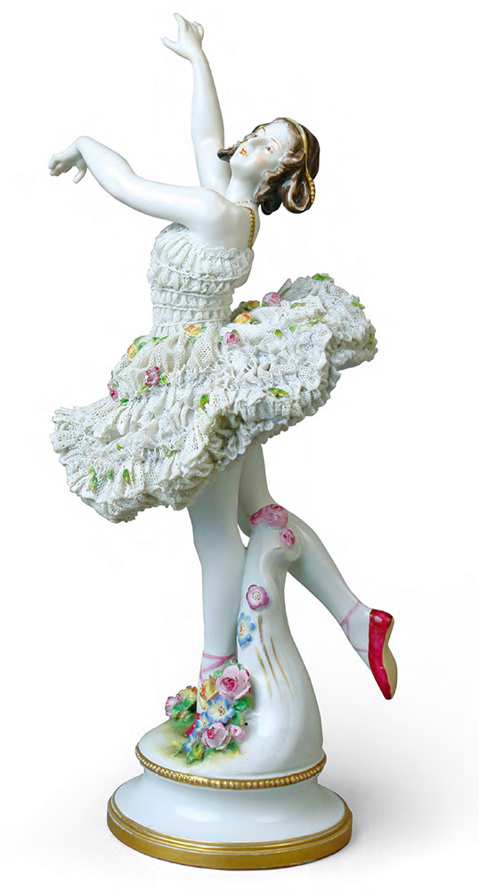 Sculptural composition of Anna Pavlova from the ballet 'La Sylphide'. Porcelain Manufactory Aelteste Volkstedter Porzellanfabrik AG Germany, Thuringia, 1912-1945