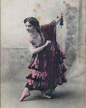 "Vera Trefilova as Kitri from the ballet ""Don Quixote"". 1902"