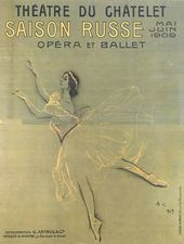 "VALENTIN SEROV. Anna Pavlova in the ballet ""Les Sylphides"". 1909"