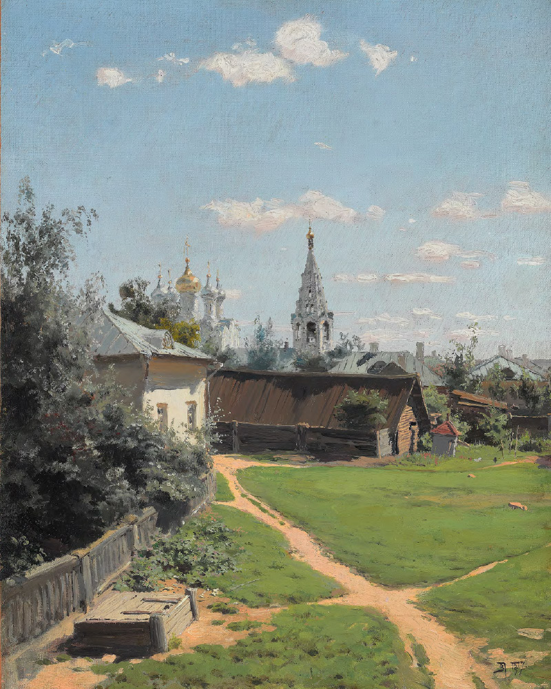 Vasily POLENOV. Moscow Courtyard. 1877