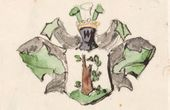Vasily POLENOV. The Coat-of-arms of the Polenov Family. 1870