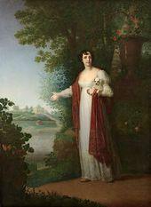Vladimir BOROVIKOVSKY. Portrait of Darya Derzhavina. 1813
