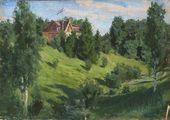 Vasily POLENOV. The House at Imochentsy. 1876. Study