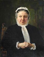 Vasily POLENOV. Portrait of Maria Polenova. 1885