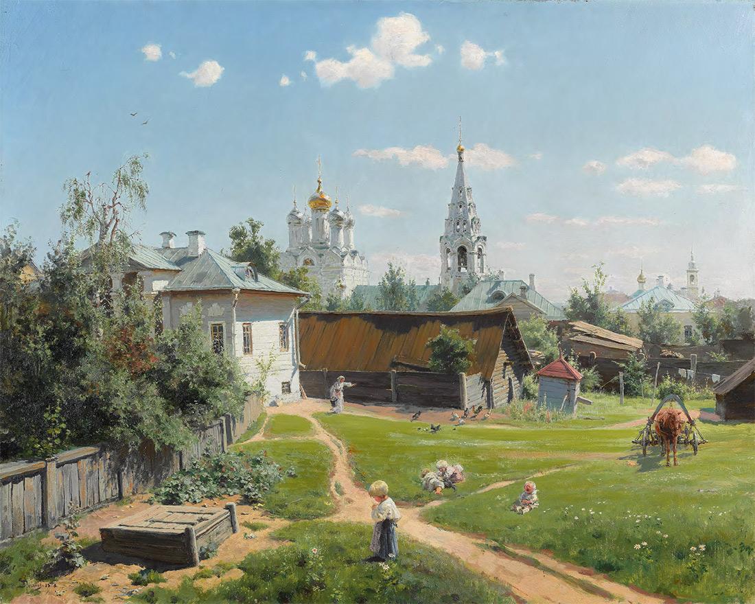 Vasily POLENOV. Moscow Courtyard. 1878