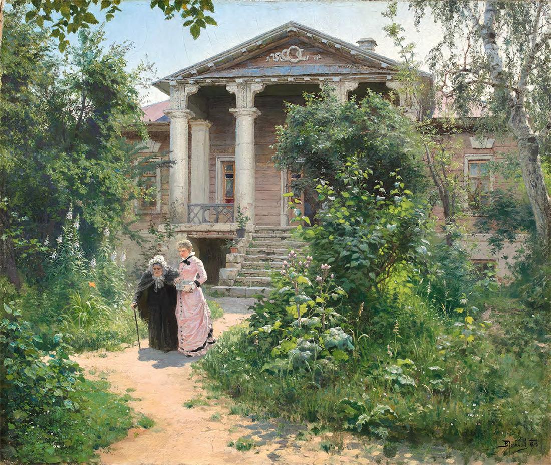 Vasily POLENOV. Grandmother's Garden. 1878