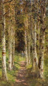 Vasily POLENOV. Birchwood Alley. 1880. Study