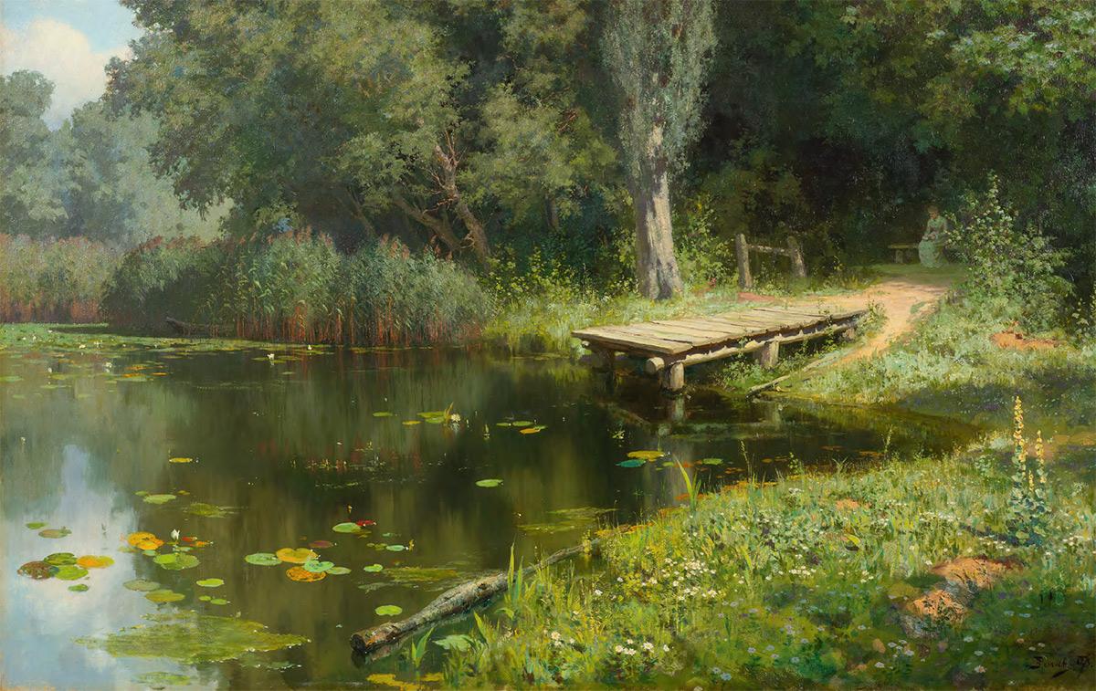 Vasily POLENOV. Overgrown Pond. 1879