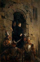 Vasily POLENOV. Arrest of the Huguenote Jacobine de Montebel, Countess d'Etremont. 1875