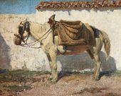 Vasily POLENOV. White Horse. Normandy. 1874