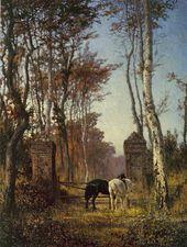 Vasily POLENOV. In a Park. Veules, Norrmandy. 1874