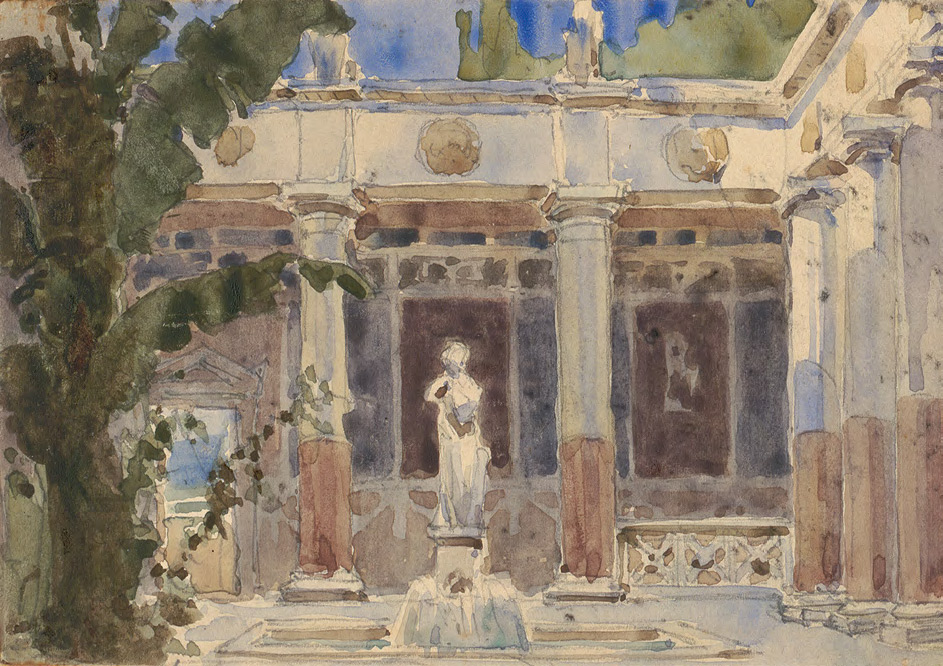 Vasily POLENOV. Atrium. Act III. 1879