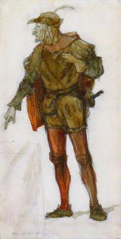 Vasily POLENOV. Mephistopheles. 1901