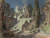 Vasily POLENOV. Castle Staircase. Act IV. 1883